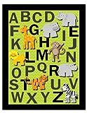 Alphabet Safari Nursery Wall Art