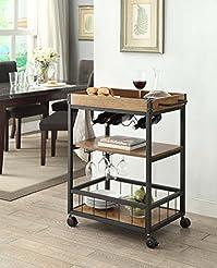 Linon Austin Portable Kitchen Cart