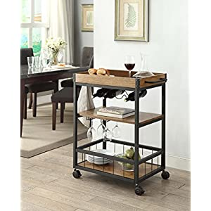 Linon Austin Portable Kitchen Cart