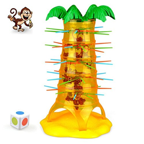 Falling Tumbling Monkey Family Toy, E-SCENERY Climbing Tumblin Monkeys Board Game For Kids Adults Family