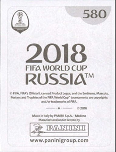 2018 Panini World Cup Stickers Russia 580 Danny Rose England Soccer