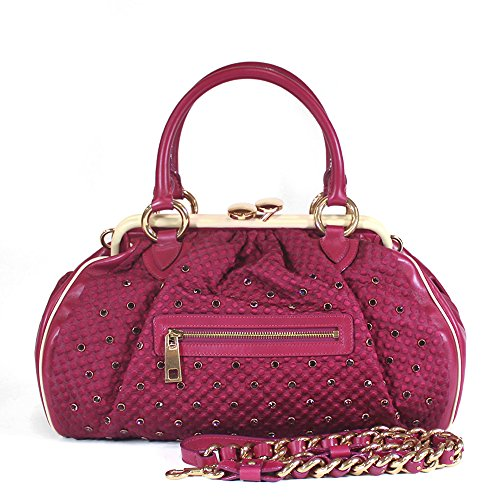 Quilted Satchel Jacobs Marc (Marc Jacobs Limited Edition Stam Satchel Bag, Fuchsia)