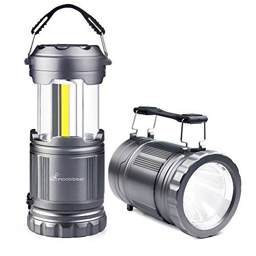 LED Camping Flashlight Lanterns - Moobibear 2-In-1 Portable LED Camping Lantern Handheld Flashlights, Battery Powered Water Resistant Collapsible Lantern for Night Fishing, Hiking, Emergencies, 2 Pack by Moobibear