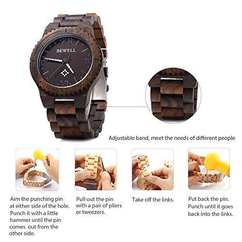 Bewell-W065A-Lightweight-Vintage-Wooden-Watch-Men-Quartz-Luminous-Pointers-Wrist-Watch