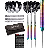 Red Dragon Razor Edge Rainbow 85% Tungsten Steel Darts with Flights, Shafts, Wallet & Red Dragon Checkout Card