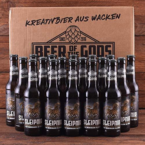WACKEN BRAUEREI Helles Craft Beer Box 20 x 0,33 l Flasche | SLEIPNIR | Viking Craftbeer Set Gift for Men | Wikinger…