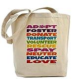CafePress - Adopt-Foster-Rescue Tote Bag - Natural Canvas Tote Bag, Cloth Shopping Bag