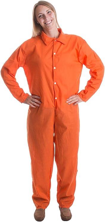 odin sky Mono del preso | Prisionero Naranja Prisionero Disfraz de Halloween Cárcel Unisex Penal, XXL: Amazon.es: Ropa y accesorios