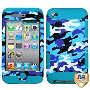 Snap on Cover Fits Apple iPod Touch 4 (4th Generation) Aquatic Camouflage/Tropical Teal TUFF Hybrid (does NOT fit iPod Touch 1st, 2nd, 3rd or 5th generations)