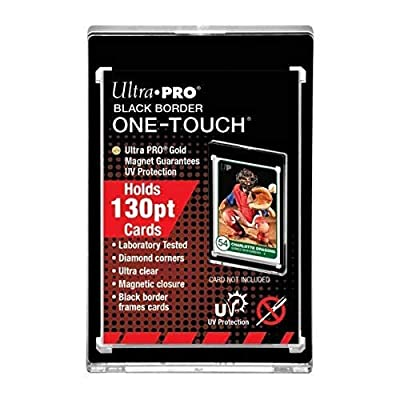 Ultra Pro Black Border One-Touch Card Holder 130pt: Toys & Games