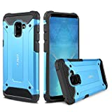 Galaxy A8 2018 Case, J&D [ArmorBox] [Dual Layer] Hybrid Shock Proof Protective Rugged Case for Samsung Galaxy A8 2018 - [Not Compactible with Galaxy A8 Plus 2018] - Blue