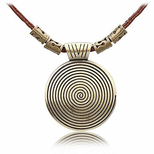 Tardis Costume Tutorial (Fariishta Jewelry Vintage Leather Lanyard Mystery Disc Alloy Pendant Necklace)