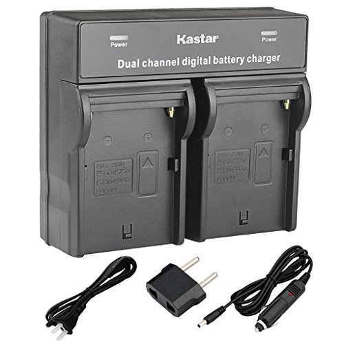 Kastar Dual Smart Fast Charger for Sony NP-F970 NP-F960 NP-F975 and CCD-RV100 CCD-RV200 CCD-SC5 CCD-SC9 CCD-TR1 CCD-TR940 CCD-TR917 Camera CN-126 CN-160 CN-216 CN-304 YN 300 VL600 LED Video Light by Kastar