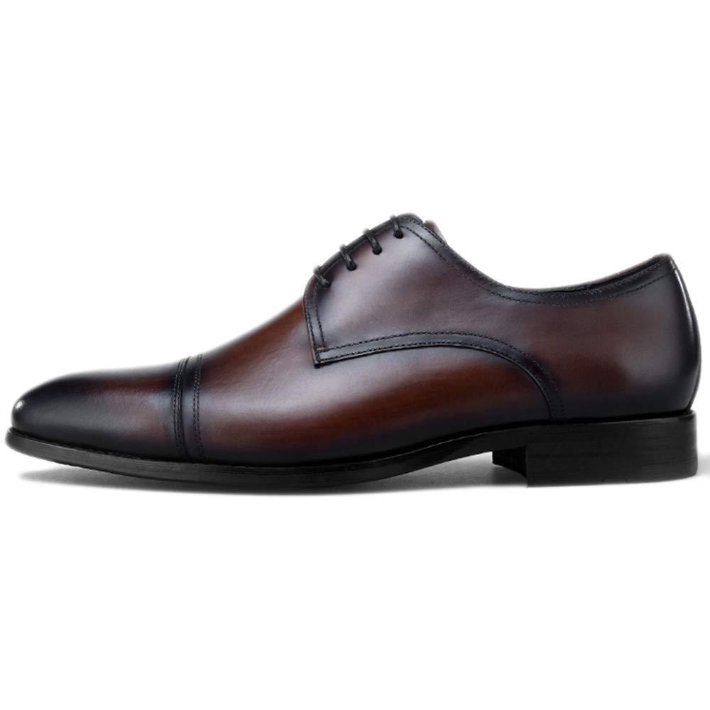 Herren Calf Echtleder Derby Schuhe Business Formal Schnürschuh Schuh Handarbeit Schuhe Business Arbeit Business Abend Party Hochzeitsgeschenke Braun