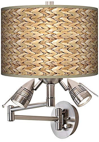 Seagrass Print Pattern Modern Swing Arm Wall Light - Giclee Gallery (Lighting Seagrass)