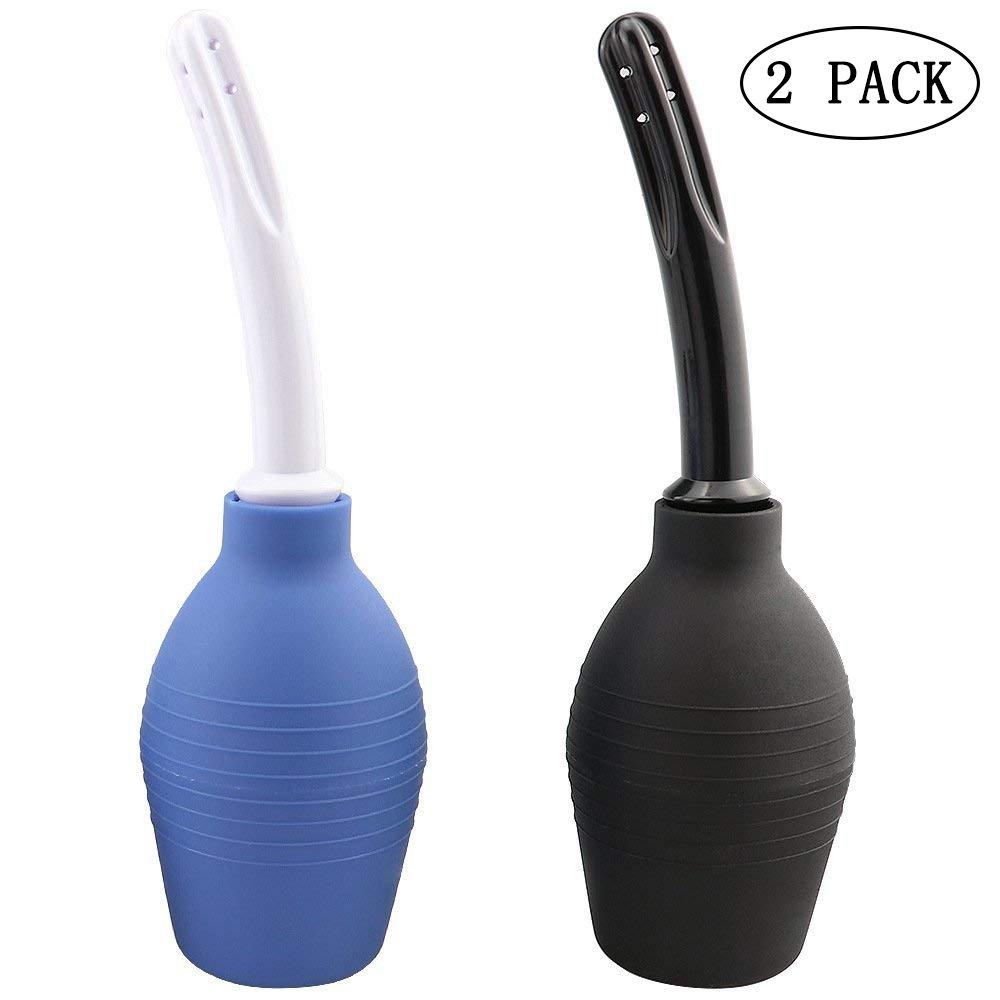 Kinxor Enema Bulb Clean silicone ANAL DOUCHE kit medici per uomo women- comoda, 2pezzi