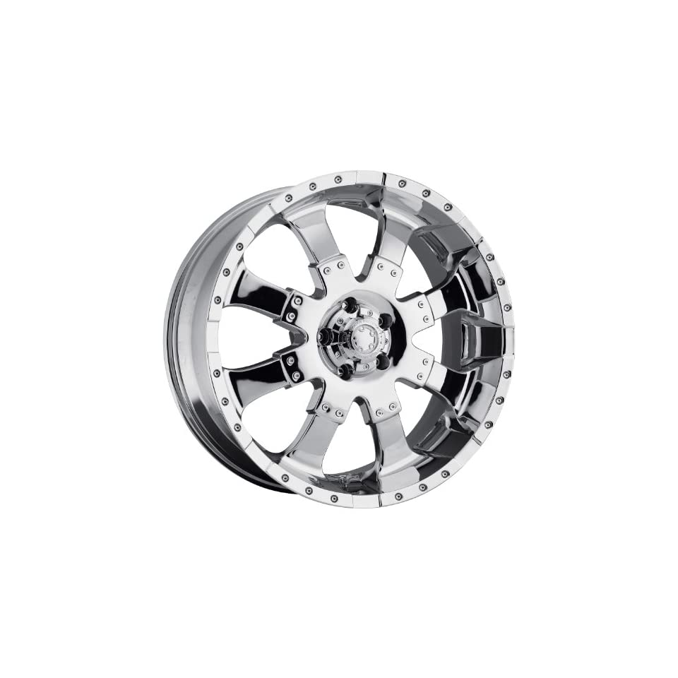 Ultra Goliath 20x9 Chrome Wheel / Rim 8x180 with a 18mm Offset and a 124.30 Hub Bore. Partnumber 224 2998C+18