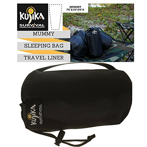 Best Mummy Sleeping Bag Travel Liner,It's Bigger,Better and Stronger.This Mummy Travel Bed Liner is 100% Vietnamese Polyester Dupioni Silk ,Guaranteed! Ideal for Sleeping bags, Backpacking, Camping Clean Dupioni Silk