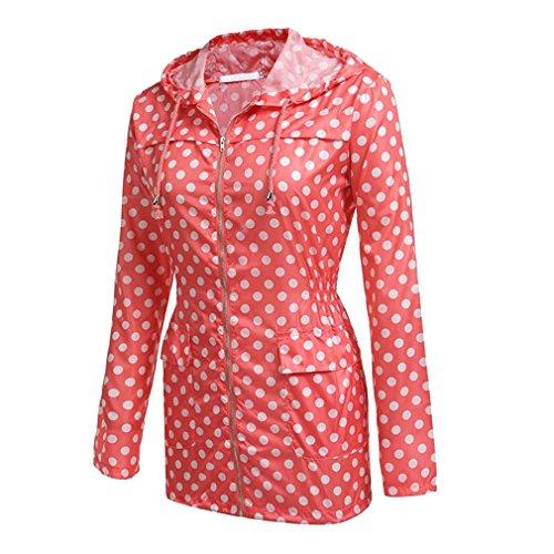 Impermeabili Rosso Punto Da Giacche Donna Yying 5gwq40Y