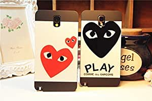Galaxy Note2 Case, Look Into Your Heart Black Case Cover for Samsung Galaxy Note2 N7100, 1 piece, Red Heart WANGJING JINDA