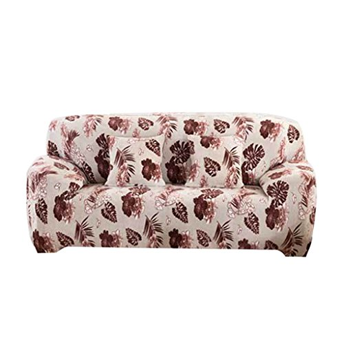MonkeyJack Elastic Fabric 2 Seater Slipcover Love Seat Couch Sofa Settee Cover - Flower and Butterfly, 145-185 cm or 57-73 inch Butterfly Settee