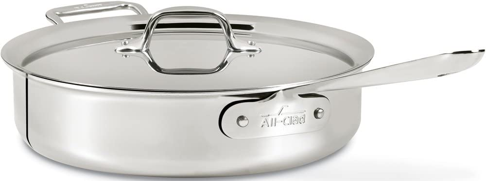 Brand New All-Clad 4404 Stainless Steel Tri-Ply Bonded 4qt Saute Pan with Lid