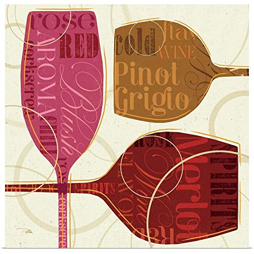 GREATBIGCANVAS Poster Print Entitled Colorful Wine III by Pela Studio - Pinot Blush Grigio