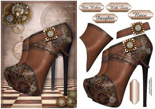 Steampunk piattaforma scarpe by Anne Leva Craftsuprint