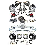 """NEW 2"""" DROP SUSPENSION & WILWOOD BRAKE SET, SPINDLES, CURRIE REAR END & AXLES, POSI, 11"""" DRILLED DISCS, BLACK CALIPERS, MASTER, BOOSTER, ARMS, 1968 1969 1970 1971 1972 CHEVELLE EL CAMINO CUTLASS GTO"""