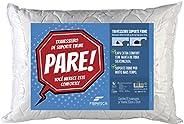Fibrasca 4115 - Travesseiro Suporte Firme Pare com Capa Em Malha, Branco, 50 x 70 Cm