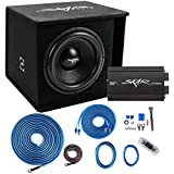 Skar Audio Single 15' Complete 1,200 Watt SDR Series Subwoofer Bass Package - Includes Loaded Enclosure with Amplifier