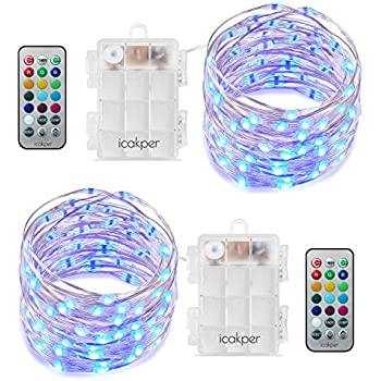 Amazon.com : Homestarry LED String Lights, Battery Powered Multi Color Changing String Lights ...