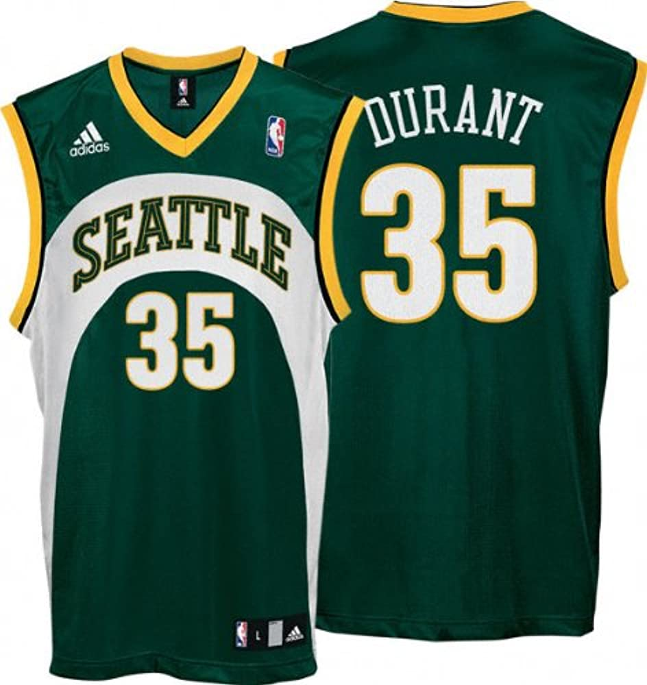 KD Jersey Amazon.com : Kevin Durant Jersey: adidas Green Replica #35 Seattle ...