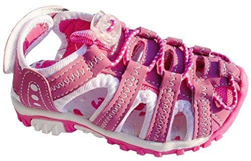 Kinder Trekking Sandalen mit Lederinnensohle, pink, Gr. 31-35 Pink