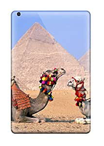 New Style 7146459J68138099 Rugged Skin Case Cover For Ipad Mini 2- Eco-friendly Packaging(egypt Cairo Camels)