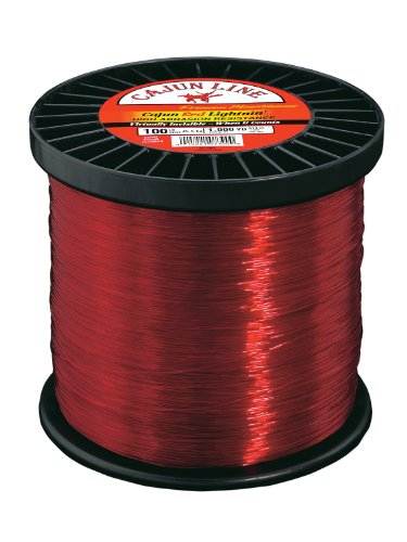 Cajun Line Red Lightning 2-Pound Spool with Test Fishing Line (50-Pound), Outdoor Stuffs