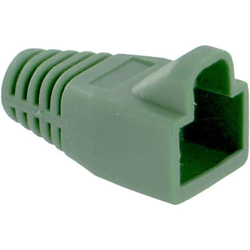 Plug Boot; RJ45 connector; Green, Pack of 100
