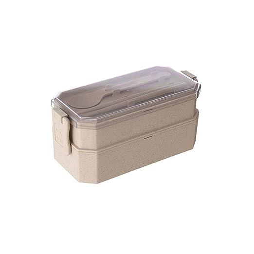 Brown78 - Fiambrera de doble capa para microondas, portátil ...