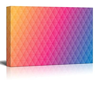 Abstract Triangular Pattern Placed on Colorful Background, Made For You, Delightful Object of Art