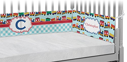 Trains Crib Bumper Pads (Personalized) by RNK Shops