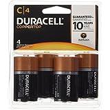 Duracell  Coppertop C Alkaline Batteries, 4 Count