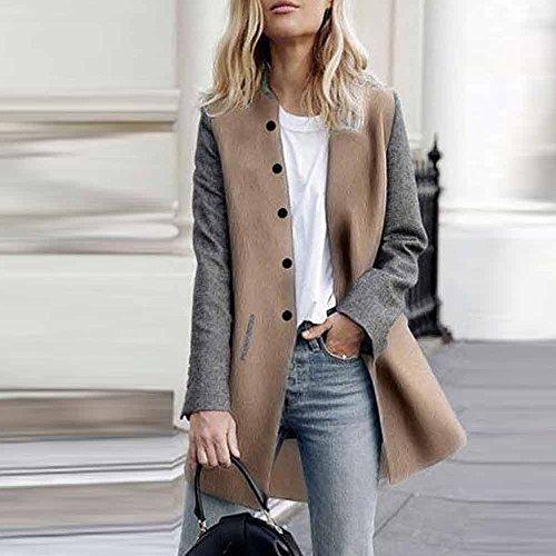 pour manches longues Shobdw Veste grises femmes pour à Vêtements femmes 5XYgxY7