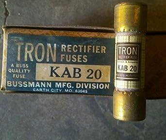 bussman kab20 rectifier fuse 20 amp 250 volt box of 10. Black Bedroom Furniture Sets. Home Design Ideas