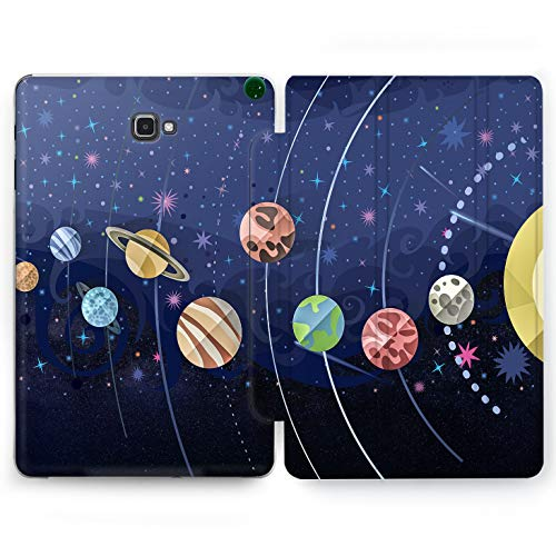 Wonder Wild Planet Parade Samsung Galaxy Tab S4 S2 S3 A E Smart Stand Case 2015 2016 2017 2018 Tablet Cover 8 9.6 9.7 10 10.1 10.5 Inch Clear Design Space Pattern Personal Luxury Print Fashion Art]()