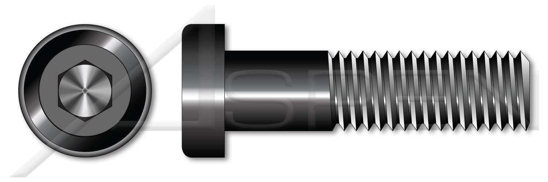 (200 pcs) 3/8''-16 X 1-1/4'', Low Head Hex Socket Cap Screws, UNRC Coarse Thread, Alloy Steel, Black Oxide, Holo-Krome