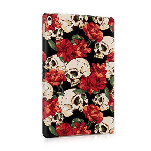 Grunge Skeleton Skulls Pattern Roses Wildflower Floral Hipster Plastic Tablet Snap On Back Case Cover Shell For iPad Pro 9.7