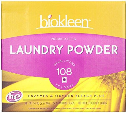 Biokleen Laundry Powder, Enzymes & Oxygen Premium Plus, 5 Pounds