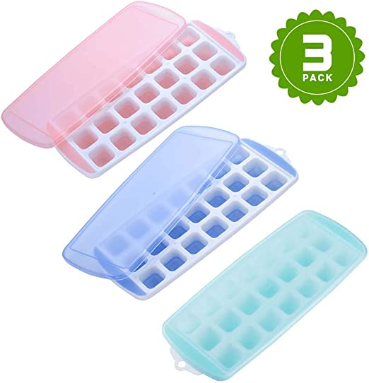 black, 1x Ice Cube Trays,Silicone Ice Cube Molds with Lid Flexible 8-Ice Trays BPA Free,for Whiskey,Cocktail Stackable Flexible Safe Ice Cube Molds