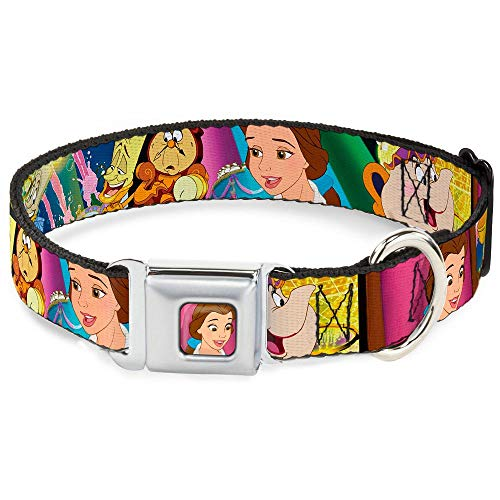 Buckle-Down Seatbelt Buckle Dog Collar - Beauty & the Beast Be Our Guest Scenes - 1