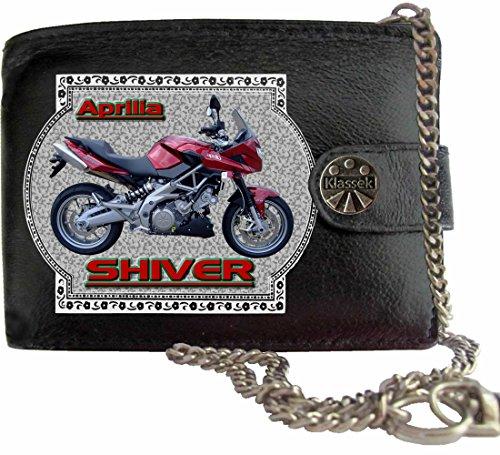 APRILIA SHIVER 750 Klassek Herren Geldbörse Geldbeutel Portemonnaie mit Kette Motorrad Zubehör Bike